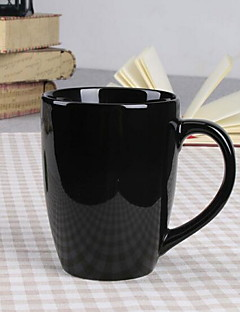 Minimalisme Glas og Krus, 400 ml Dekorativ Keramik Nøgen Mælk Hverdags Drikkeredskaber