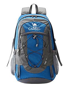 30 L バックパッキング用バックパック キャンピング&ハイキング 旅行 反射ストリップ 防水 防雨 ケトルバッグ内蔵 耐久性 高通気性 ナイロン CAMEL