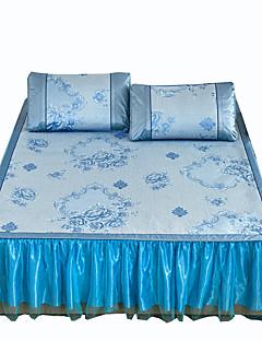 Blumen Bettbezug-Sets 3 Stück Polyester Muster Reaktivdruck Polyester Doppelbett ca. 1,50 m breites Doppelbett2 Stk. Kissenbezüge 1 Stk.