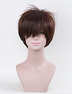 Cosplay Wigs Attack on Titan Eren Jager Brown Short Long Anime Cosplay Wigs 25 CM Heat Resistant Fiber Male