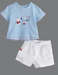 bébé Décontracté / Quotidien Couleur Pleine Ensemble de Vêtements Eté