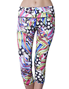 Queen Yoga® Women's Sleeveless Running 3/4 Tights Pants/Trousers/Overtrousers Bottoms Breathable Compression Sweat-wickingSpring Summer