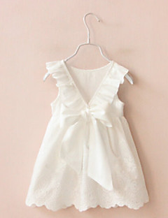 Girl's Going out Solid Dress,Cotton Summer Sleeveless