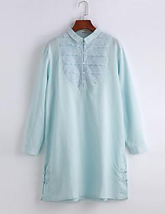 春 秋 シャツ,シンプル シャツカラー コットン 長袖 ミディアム