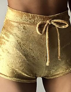 Slank Joggingbroeken Shorts Broek,Effen Strand Sportief Eenvoudig Actief Hoge taille Trekkoord Elasticiteit Rayon Polyester