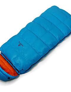 寝袋 封筒型 シングル 幅150 x 長さ200cm -25 -12 0 ダックダウン85 キャンピング 屋外 防湿 防水 通気性 保温 フランネル裏地 折り畳み式