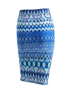 婦人向け ヴィンテージ / ストリートファッション ミディ / 膝丈 スカート,コットン / モーダル マイクロエラスティック