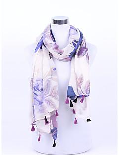 Damen Retro Niedlich Freizeit Acryl Chiffon Strickware Schal,Quadratisch Druck Frühling Sommer Herbst