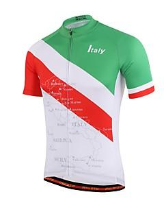 Φανέλα ποδηλασίας Γιούνισεξ Κοντομάνικο Ποδήλατο Ελαφριά Υλικά Anti Transpirație Αθλητική μπλούζα Coolmax ΓεωμτερικόΆνοιξη Καλοκαίρι
