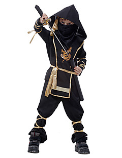 Children Super Handsome Boy Kids Black Ninja Warrior Costumes Halloween Party Game Performance Classic Halloween Costume