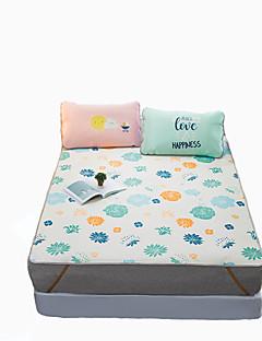 Blomster Sengesæt 3 Dele Polyester Mønster Reaktivt Print Polyester Dobbelt Dubbel 2stk Betræk 1stk Flad Lagen