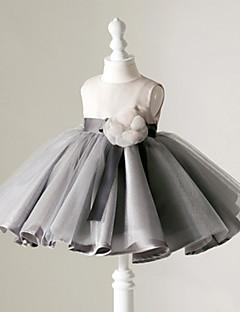 BONJEAN Ball Gown Short / Mini Flower Girl Dress - Organza Jewel with Flower(s)