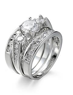 Naisten Korusetti Sormus Kihlasormus Cubic Zirkonia jäljitelmä Diamond pukukorut Tyylikäs Eurooppalainen Zirkoni Cubic Zirkonia Teräs