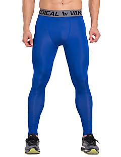 Vansydical® Per uomo Pantaloni da corsa Asciugatura rapida Traspirante Leggings Abbigliamento a compressione Calze/Collant/Cosciali