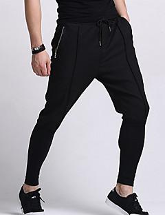 Hombre Chic de Calle Tiro Medio Eslático Chinos Pantalones,Pantalones Harén Un Color