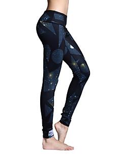Yoga-Hose Strumpfhosen/Lange Radhose Leggins Unten Atmungsaktiv Rasche Trocknung Normal Hochelastisch Sportbekleidung DamenYoga Pilates