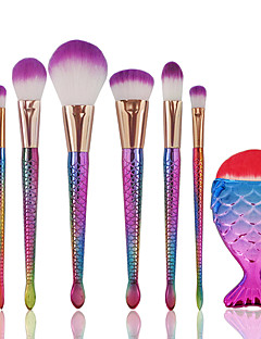 8 Stk, Børstesett Rougebørste Øyenskyggebørste Concealer-børste Pudderbørste Foundationbørste Konturbørste Syntetisk hårProfessjonell