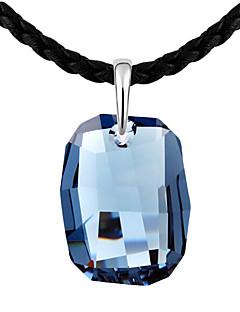 Pentru femei Coliere cu Pandativ Cristal Design Unic Geometric La modă Personalizat Euramerican Albastru Închis Mov Albastru Deschis