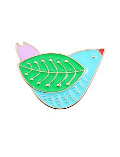 Damen Broschen Tier Design Modisch nette Art Emaille Aleación Tierform Vogel Schmuck Für Hochzeit Party Besondere Anlässe Alltag Normal