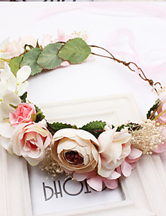 Women's Fabric Hair ClipCute Party Casual Spring Summer Headband Headpiece Head Wreath  Hair Accessories  Flower Girl