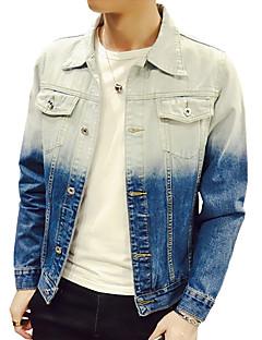 Heren Vintage Eenvoudig Actief Lente Herfst Denim jacks,Uitgaan Casual/Dagelijks Sportief Kleurenblok Overhemdkraag Lange mouw Normaal