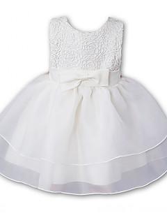 Baby Kjole Polyester Ensfarvet Broderi Formelle Sommer
