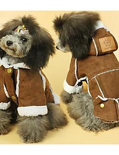Koira Takit Koiran vaatteet Sievä Rento/arki Tukeva Keltainen Ruskea