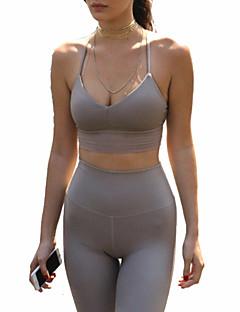 Ioga Conjuntos de Roupas/Ternos Respirável Redutor de Suor Macio Confortável Com Elástico Moda Esportiva MulheresIoga