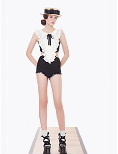 ספורטיבי לנשים Skins הצלילה קאפ חזיה ניתן להסרה אלסטיין Chinlon חליפת צלילה בלי שרוולים תחתונים מכנסונים-שחייה צלילה קיץסקסית טוואל סרט