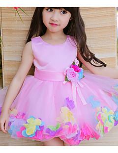 Κορίτσια Φόρεμα Πολυεστέρας Μονόχρωμο Καλοκαίρι Αμάνικο
