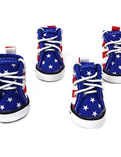 강아지 신발 & 부츠 귀여운 패션 스포츠 컬러 블럭 블루