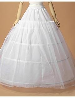Déshabillés Robe trapèze Robe de soirée longue Ras du Sol 2 Filet de tulle Polyester Blanc