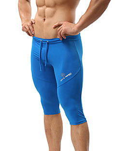 בגדי ריקוד גברים ריצה 3/4 טייץ בגדי ים מכנסיים קצרים תחתיותייבוש מהיר חדירות ללחות חדירות גבוהה לאוויר (מעל 15,000 גרם) נושם דחיסה חומרים