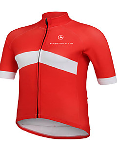 Cycling Jersey Men's Short Sleeve Bike Breathable Quick Dry Tops Terylene Fashion Spring Summer Fall/AutumnTaekwondo Boxing Exercise &
