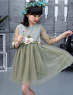 Mädchen Kleid Lässig/Alltäglich Blumen Patchwork Kunstseide Polyester Sommer Frühling Herbst ½ Ärmel