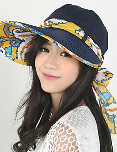 Women 's Summer Mountain Climbing Anti-UV Outdoor Travel Shade Sun Flower Printing Visor Cap Foldable Beach Straw Cap