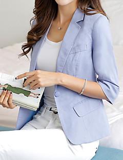 Costume / Tailleur Femme,Couleur Pleine Décontracté / Quotidien simple Printemps Automne Manche Longues Col de Chemise Normal Polyester