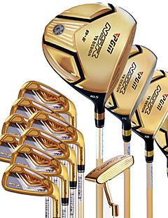 Clubes de golfe golf conjuntos de cor dourada para iniciantes golfe caso durável incluído liga
