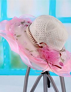 Women's  Polyester Mesh Casual Cute Summer Sun Hat