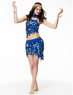 Nós roupas de dança do ventre saia superior de lantejoulas de performance feminina
