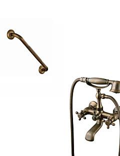 アンティーク調 伝統風 田舎風 バスタブとシャワー ワイドspary ハンドシャワーは含まれている 回転可 with  セラミックバルブ 3つのハンドル二つの穴 for  アンティーク真鍮 , 浴槽用水栓