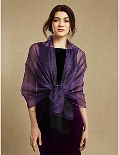 As mulheres envolvem xaleias festa de casamento de seda / borlas da noite