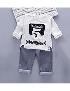 bébé Décontracté / Quotidien Couleur Pleine Ensemble de Vêtements,Motif Animal Eté Printemps