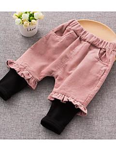 Baby Leggings Bomuld Ensfarvet I-byen-tøj Afslappet/Hverdag Sommer Forår