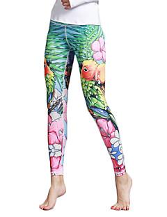 Jóga Pants Kerékpározás Tights Leggingek Légáteresztő Gyors szárítás Természetes Nagy rugalmasságú Sportruházat NőiJóga Pilates Fitnessz