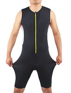 Macacão para Triathlon Homens Sem Mangas Moto Triatlo Respirável Confortável Corpo Inteiro Elastano Náilon Chinês MiscelâneaPrimavera