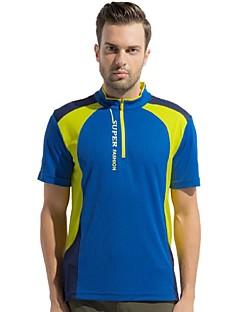 Homens Camiseta Acampar e Caminhar Pesca Alpinismo Respirável Secagem Rápida Vestível Verão