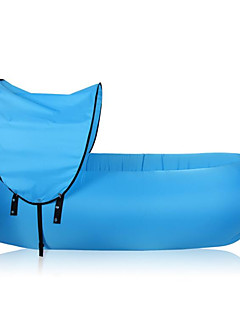 Fonoun  Inflatable Hangout Air Sleep Camping Bed Sleeping Bags Beach Sofa Lounge Lazy Chair  10 Seconds Open with Shelter FS01