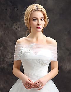 כיסויי גוף לנשים Capelets תחרה טול חתונה מסיבה / ערב אפליקציות פרח (ים) תחרה ריינסטון