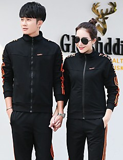 לנשים לגברים שרוול ארוך ריצה בגדי ספורט חוף שחור כחול כהה סגול